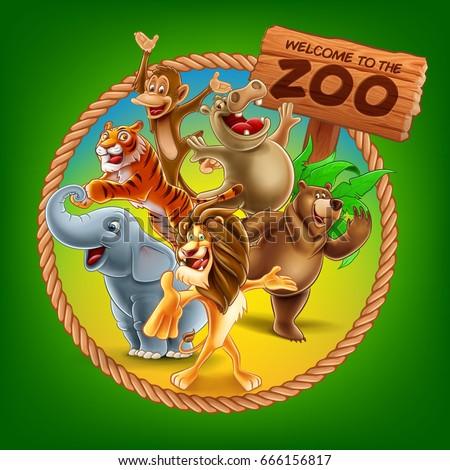 zoo vector banner