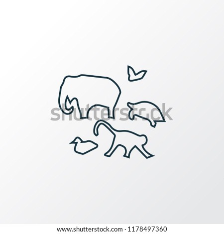 Zoology icon line symbol. Premium quality isolated fauna element in trendy style.