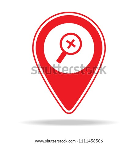 zoom in alt map pin icon. Element of warning navigation pin icon for mobile concept and web apps. Detailed zoom in alt map pin icon can be used for web and mobile on white background
