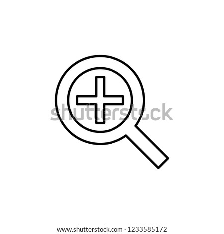 zoom in alt sign icon. Element of navigation sign icon. Thin line icon for website design and development, app development. Premium icon