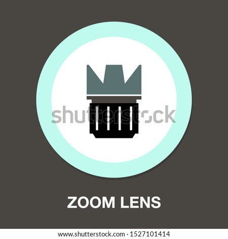 zoom lens - Autofocus icon - digital photo camera illustration, vector image concept