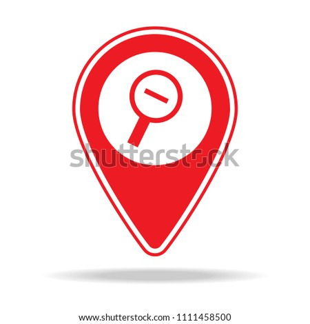 zoom out alt map pin icon. Element of warning navigation pin icon for mobile concept and web apps. Detailed zoom out alt map pin icon can be used for web and mobile on white background