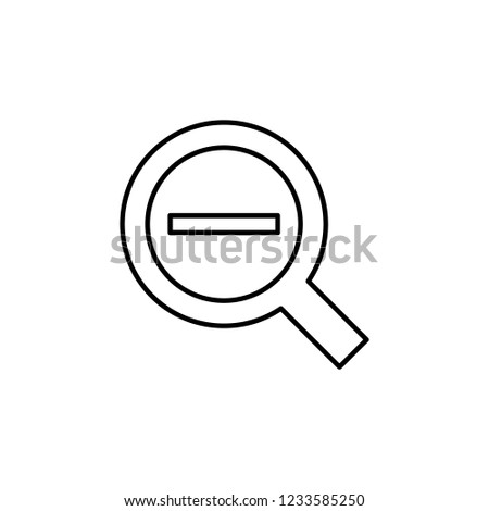 zoom out alt sign icon. Element of navigation sign icon. Thin line icon for website design and development, app development. Premium icon