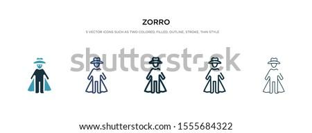 zorro icon in different style
