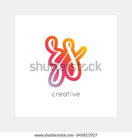 ZS logo, vector. Useful as branding, app icon, alphabet combination, clip-art. Stock fotó ©