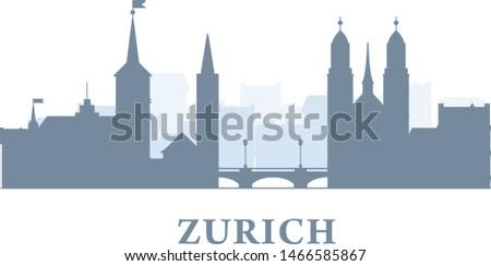 zurich city silhouette