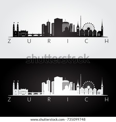 zurich skyline and landmarks