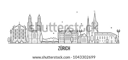 zurich skyline  switzerland