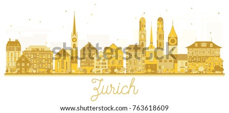 zurich switzerland city skyline