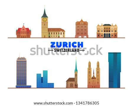 zurich switzerland landmarks at