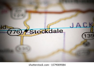 Stockdale. Ohio. USA on a geography map