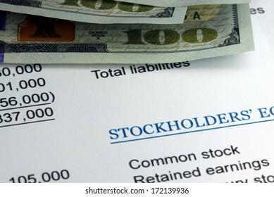 Stockholders accounting profit statement