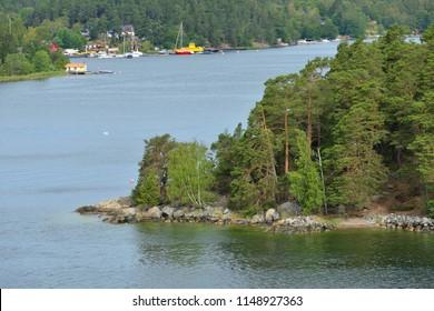 Stockholm archipelago, largest archipelago in Sweden, and second-largest archipelago in Baltic Sea. Summer Landscape