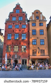 STOCKHOLM - AUGUST 26: The medieval Stortorget square on August 26 in Stockholm, Sweden. Stockholm started to be erected around this historical central square from 1400 years