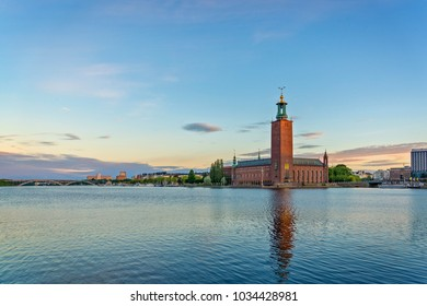 Stockholm City Hall early in the morning