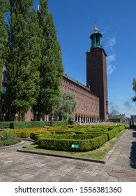 The Stockholm City Hall (Stockholms stadshus), Stockholm, Sweden - 27 Jun 2018:  It is the building of the Municipal Council for the City of Stockholm in Sweden.