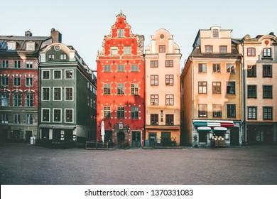 Stockholm city Stortorget architecture view in Sweden travel european landmarks