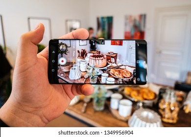STOCKHOLM, MARCH 2019 - Recently launched Huawei P30 Pro smartphone with tripple Leica camera is displayed for editorial purposes