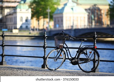 Stockholm old city bicycle