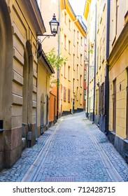 Stockholm old city street.