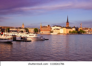 Stockholm Old Town skyline, Sweden. Filtered color style.