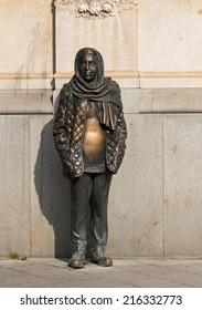 STOCKHOLM SEPTEMBER 06 2014. statue of Margaretha Krook Famous Swedish actress.