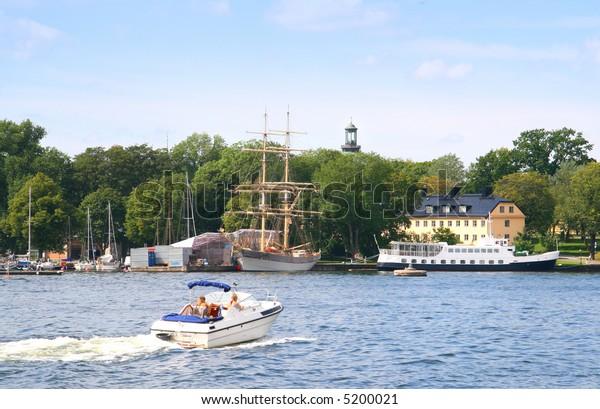 Stockholm summer scene