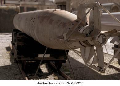 Stockholm, Sweden - 03 25 19: Old Torpedoes