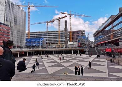 Stockholm, Sweden, 07 april 2019 - Stockholm, city development. New buildings in Stockholm.mm