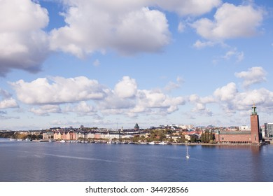 Stockholm, Sweden, 11 October, 2015.  Panoramic view of Stockholm