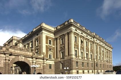 STOCKHOLM. SWEDEN. 12 OCTOBER 2007 :  Royal Palace in Stockholm. Sweden