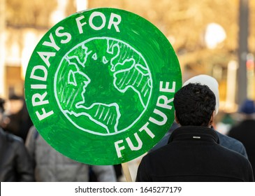 Stockholm, Sweden. 14 February, 2020. 17-year-old Swedish climate activist Greta Thunberg demonstrating in Stockholm. Fridays for Future