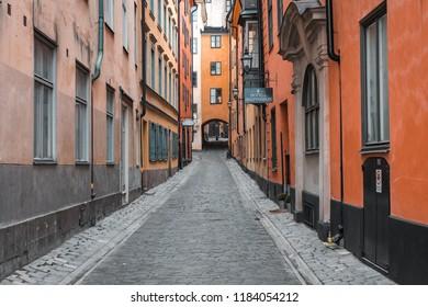 Stockholm, Sweden - 19 September, 2018. Old Town.