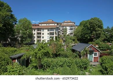 STOCKHOLM SWEDEN 2 June 2017.Tantolunden at Sodermalm Stockholm.