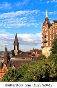Stockholm / Sweden - 2013/08/01: Old town quarter Sodermalm