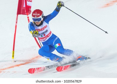 STOCKHOLM, SWEDEN, 2018, JAN 30: Female skier Irene Curtoni (ITA) in the parallel city event in Stockholm the week before the olympics. 6th place