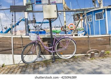 STOCKHOLM - SWEDEN -  21 MAY, 2016. The bicycle in Stockholm, Sweden