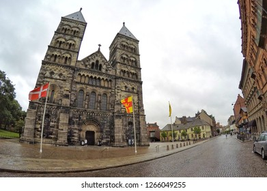 Stockholm, SWEDEN - 29 July 2017 : The Lund Cathedral is the Lutheran cathedral in Lund, It is the seat of the bishop of Lund of the Church of Sweden.