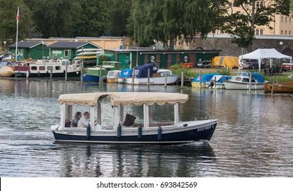 STOCKHOLM SWEDEN 30 July 2017. Beautiful boat.