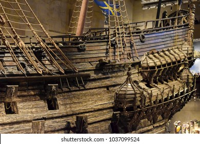 Stockholm, Sweden - 31 December 2017. Vasa Museum and Vasa Swedish Warship Built Between 1626 and 1628