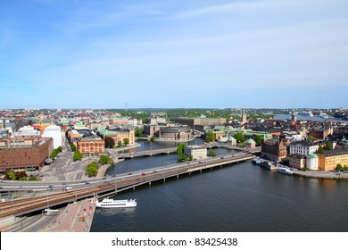 Stockholm, Sweden. Aerial view from City Hall.