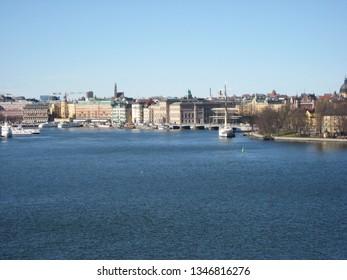 Stockholm, Sweden April 14, 2010. View over Stockholm.