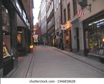 Stockholm, Sweden April 14, 2010. A Street in Stockholm.