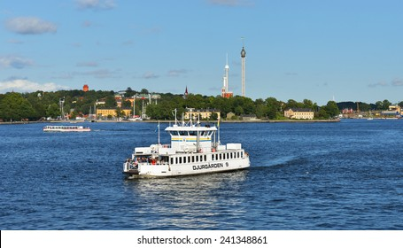 STOCKHOLM, SWEDEN - AUGUST 24,2014:Stockholm is capital of Sweden and most populous city in Scandinavia. City is spread on coast in south-east of Sweden at mouth of Lake, by archipelago and Baltic sea