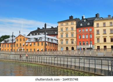 Stockholm, Sweden. Beautiful quay of the Old town