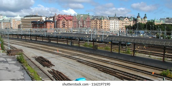 STOCKHOLM, SWEDEN - CIRCA AUGUST 2005: View of the city from the station