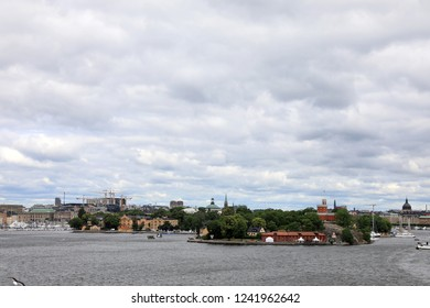 Stockholm, Sweden cityscape from the port.