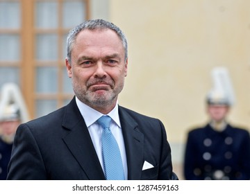 STOCKHOLM, SWEDEN - DECEMBER 01,2017: Jan Björklund politician the Liberals at the baptism of prince Gabriel of Sweden.