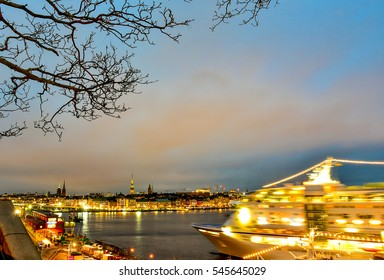 STOCKHOLM, SWEDEN - DECEMBER 2016: Late winter afternoon shot of the Swedish Capital