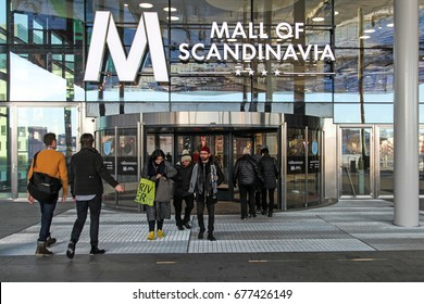 STOCKHOLM, SWEDEN - DECEMBER 29 2015: Mall of Scandinavia shopping center in Solna, Stockholm